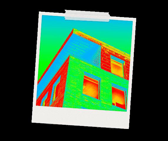 Thermografie Gebäudeoberfläche